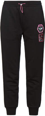 Evisu Kamon Print Sweatpants With Multi Badges
