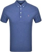 Farah Ricky Polo T Shirt Blue