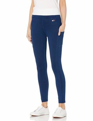 Tommy Hilfiger Women's High Rise Stretch Denim Legging with Pockets Medium