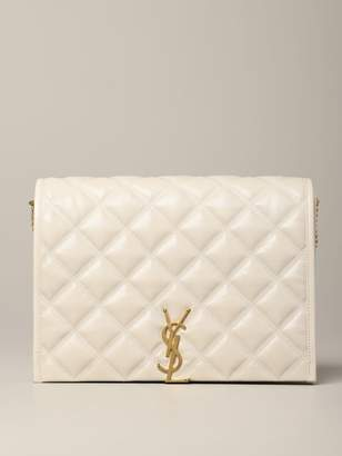 Saint Laurent Becky Bag In Quilted Leather