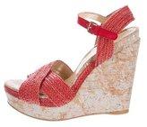 Stuart Weitzman Leather Wedge Sandals