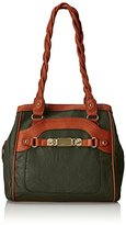 Rosetti Twist It Up Double Handle Two Tone Shoulder Bag
