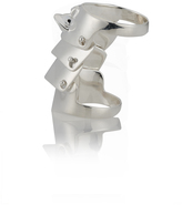 Vivienne Westwood Anglomania Armour Ring Silver Size L