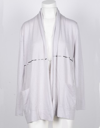 Snobby Sheep Ice Gray Silk and Cashmere Women's Cardigan