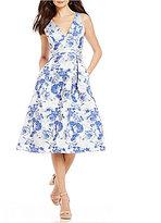Antonio Melani Lilly Metallic Jacquard Dress
