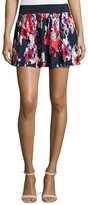 Kate Spade Floral-Print Pleated Coverup Skirt, Blue