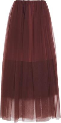 Brunello Cucinelli Gathered Tulle Maxi Skirt