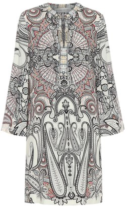 Etro Printed wool and silk minidress