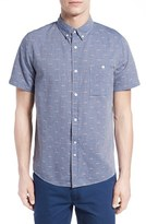 NATIVE YOUTH Men's 'Arrowhead' Jacquard Chambray Sport Shirt