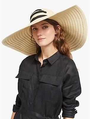 6b3ec887 John Lewis & Partners Oversized Lace-Up Floppy Sun Hat, Natural