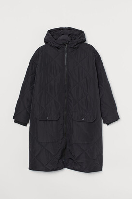 H&M H&M+ Quilted Jacket - Black