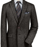 Charles Tyrwhitt Classic fit charcoal lambswool hopsack jacket