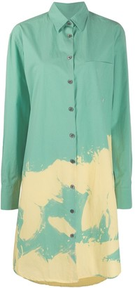 Études Mountain bleached shirt dress
