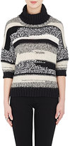 Derek Lam 10 Crosby WOMEN'S STRIPED COTTON-BLEND SWEATER