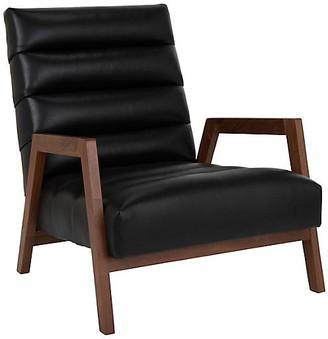 Kim Salmela Gracie Leather Channel Chair - Onyx