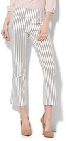 New York & Co. 7th Avenue Pant - Pull-On Kick Ankle Pant - Modern - Stripe