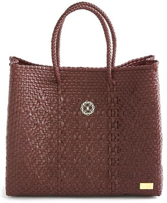 Lolas Bag Small Burgundy Tote Bag