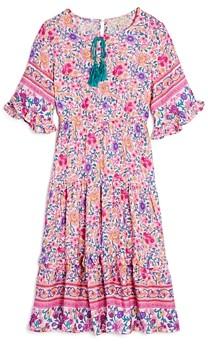 Hayden Los Angeles Girls' Mixed Floral Print Midi Dress - Big Kid
