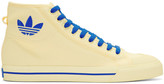Raf Simons Ivory adidas Edition Matrix Spirit High-Top Sneakers