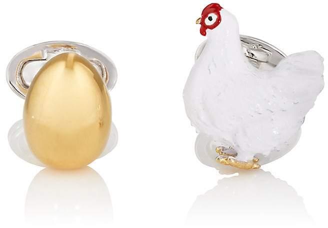 Jan Leslie Men's Chicken & The Egg Cufflinks
