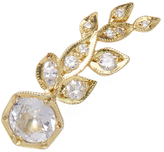 Ila Women's Sybill Wing 14K Yellow Gold, White Sapphire & 0.17 Total Ct. Diamond Ear Climber, Right