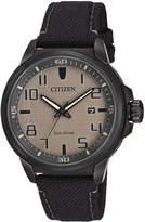 Citizen 43mm Men's Canvas Eco-Drive Watch
