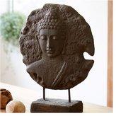 Viva Terra VivaTerra Standing Buddha Medallion Sculpture