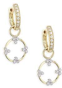 Jude Frances Women's Champagne Open Circle Diamond Trio Earring Charms