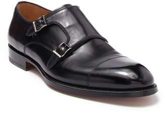 Magnanni Leather Monk Strap Cap Toe Dress Shoe