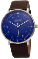 August Steiner Men's Quartz Leather Strap Watch