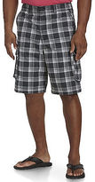 True Nation Plaid Ripstop Cargo Shorts Casual Male XL Big & Tall