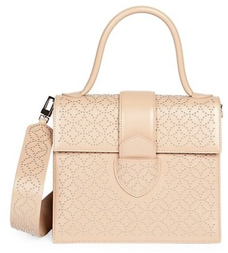 Alaia Medium Leonie Arabeque Studded Leather Top Handle Bag