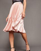 Ted Baker Zigzag detail pleated midi skirt