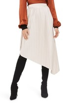 Topshop Women's Asymmetrical Pleat Midi Skirt