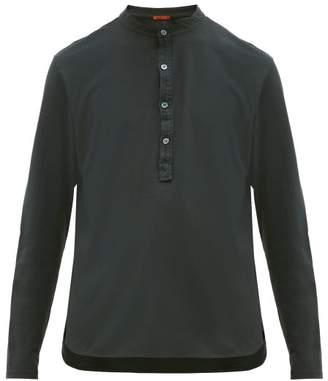 Barena Venezia - Nalin Garment-dyed Cotton-jersey Henley Top - Mens - Black