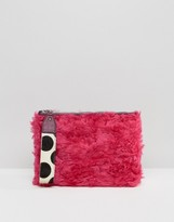 House of Holland Faux Fur Clutch Bag