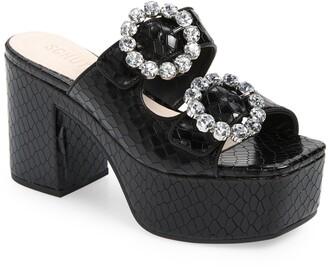 Schutz Maryel Crystal Platform Slide Sandal