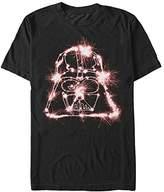 Star Wars Men's Sparkler Vader Graphic T-Shirt