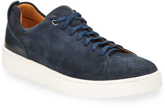 Donald J Pliner Men's Alan Suede/Leather Low-top Sneakers