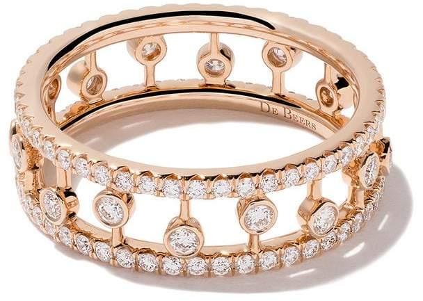 De Beers 18kt rose gold Dewdrop diamond band