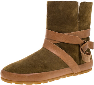 Isabel Marant Etoile Brown Suede Leather Nygel Ankle Boots Size 36