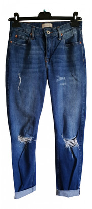 River Island Blue Cotton - elasthane Jeans for Women
