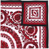 Versace Baroque floral print scarf