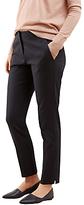 Jigsaw Weave Jacquard Trousers, Dark Navy