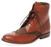 Vintage Shoe Company Benedict Suede & Leather Wingtip Boot