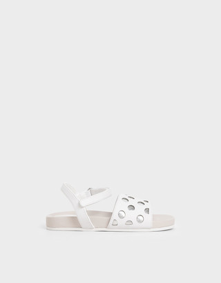 Charles & Keith Girls' Laser-Cut Sandals