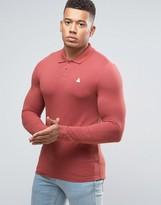 Asos Pique Muscle Long Sleeve Polo