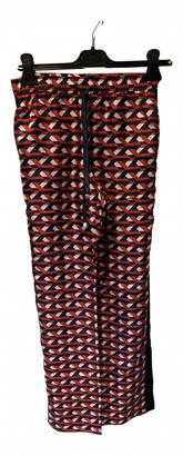 F.R.S For Restless Sleepers Red Silk Trousers