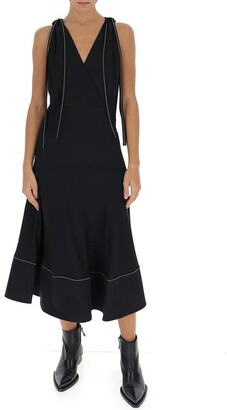 Proenza Schouler Flared V-Neck Midi Dress