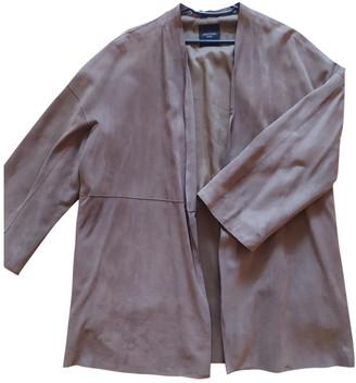 Max Mara Weekend Beige Leather Coats